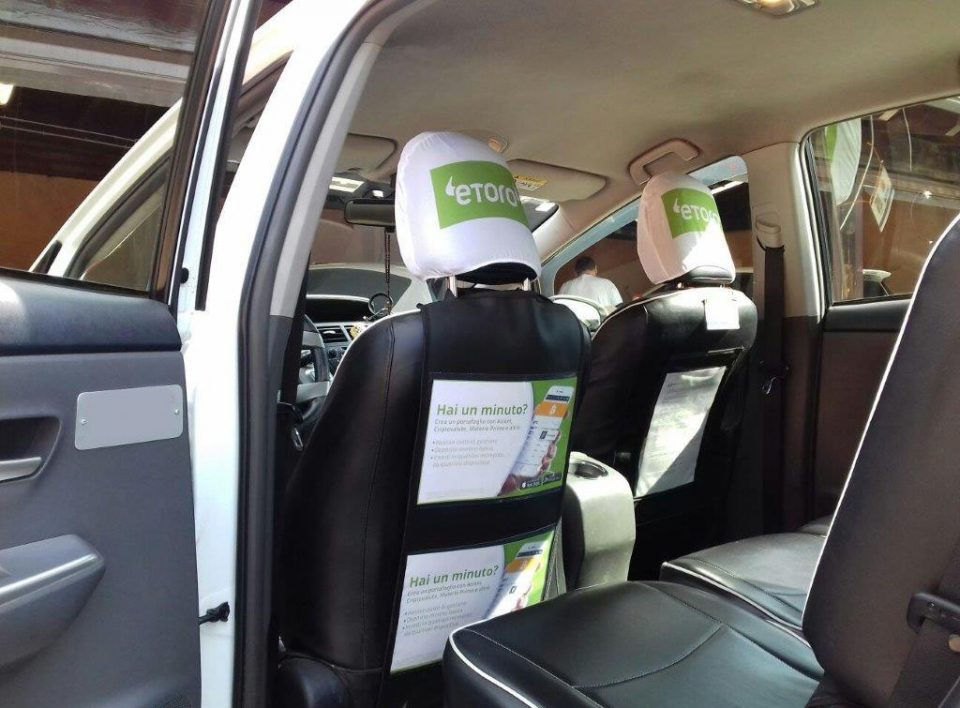 Europe Media pubblicità sui taxi interno