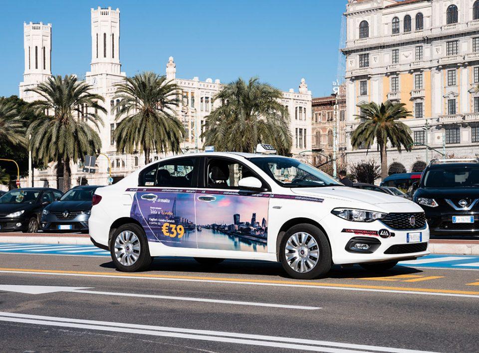 Europe Media pubblicità sui Taxi