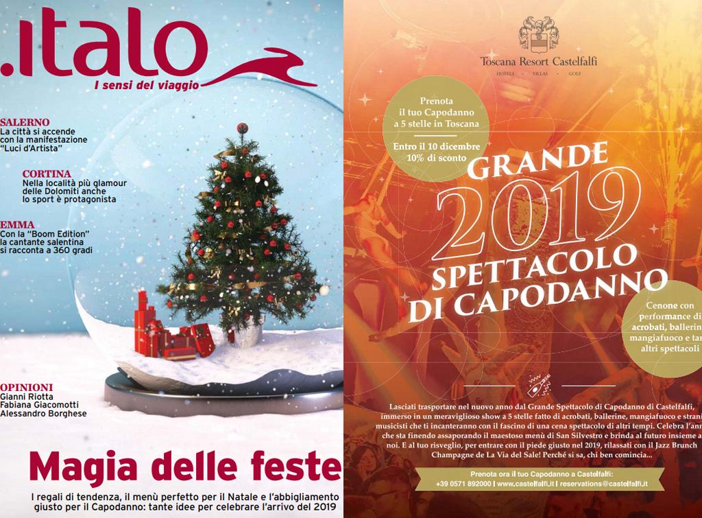 Case Di Campagna Francesi Rivista : Campagna pubblicitaria sul magazine di bordo italo per castelfanfi