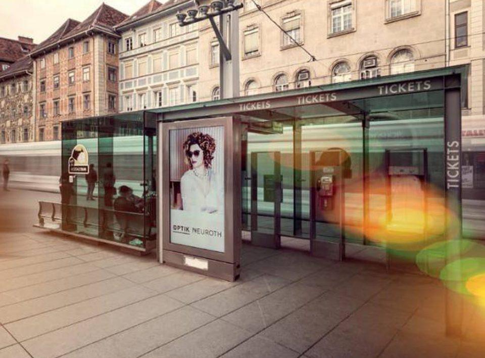 Europemedia Impianti Pubblicitari in Austria, pensiline bus digital