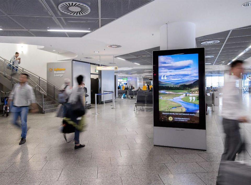 Europe Media Impianti Pubblicitari Digitali in Aeroporto Francoforte