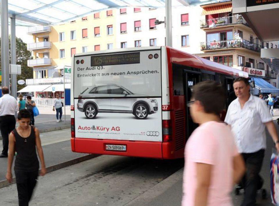 Europe Media Impianti Pubblicitari Livrea Bus Berna Svizzera