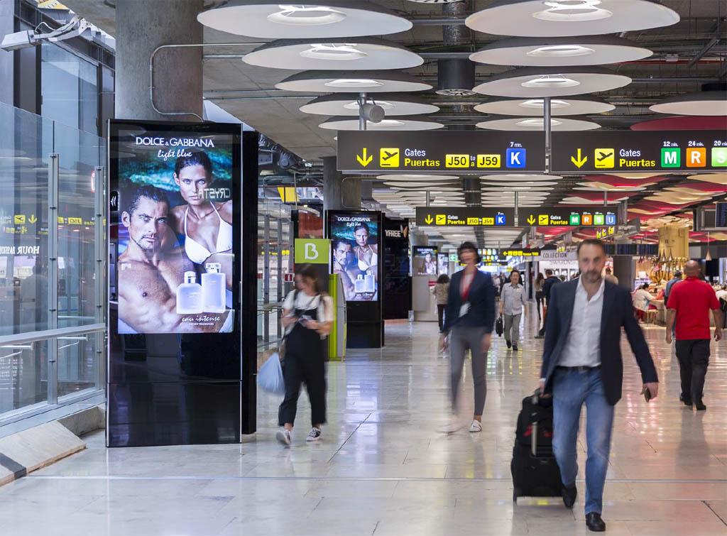 Europe Media Impianti Pubblicitari e Comunicazione Aeroporto Madrid Spagna