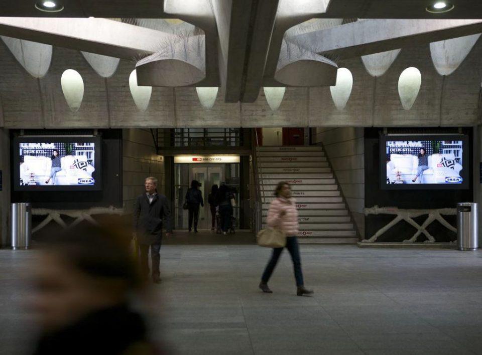 Europe Media Impianti Pubblicitari Stazione Ferroviaria Zurigo Svizzera