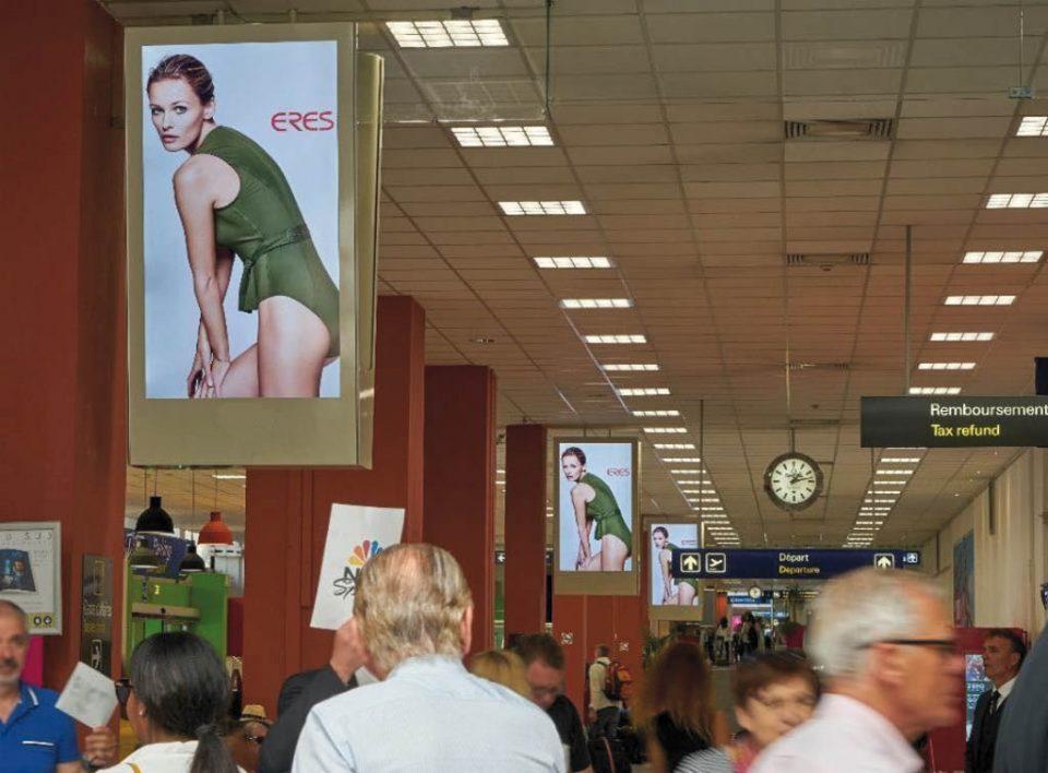 Europe Media pubblicità aeroporto di Nizza in Francia