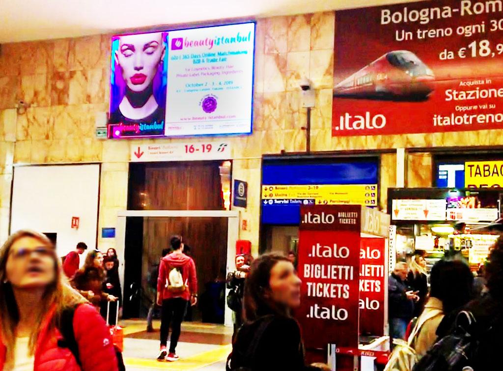 Europemedia pubblicità circuito grandi stazioni per fiera internazionale Beauty Instanbul