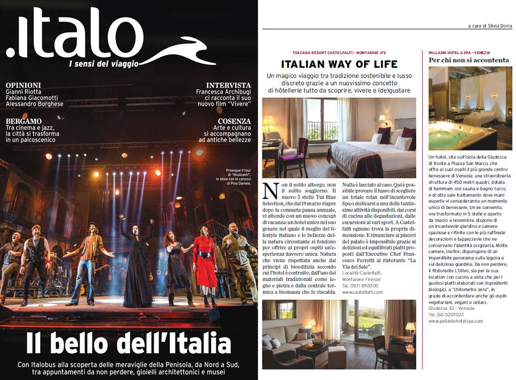 Europemedia pubblicità sulla rivista Italo