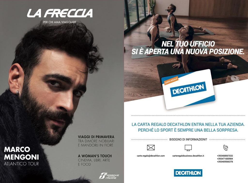 Europemedia pubblicità rivista la Freccia per Decathlon Italia