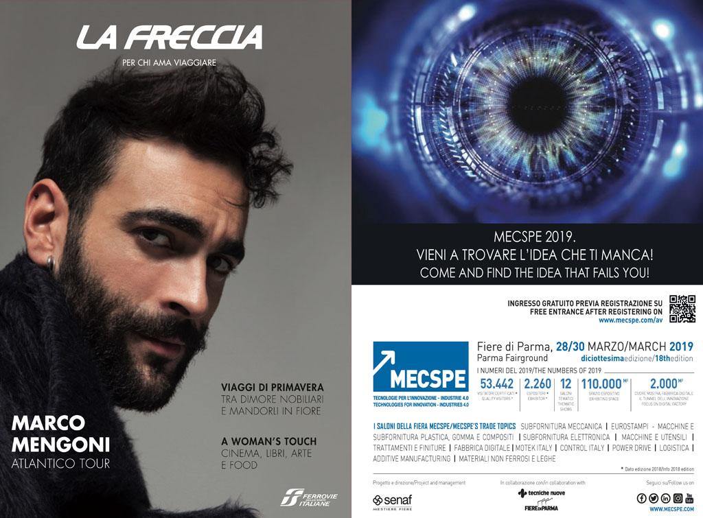 Europemedia pubblicità rivista la Freccia per Fiera di Parma