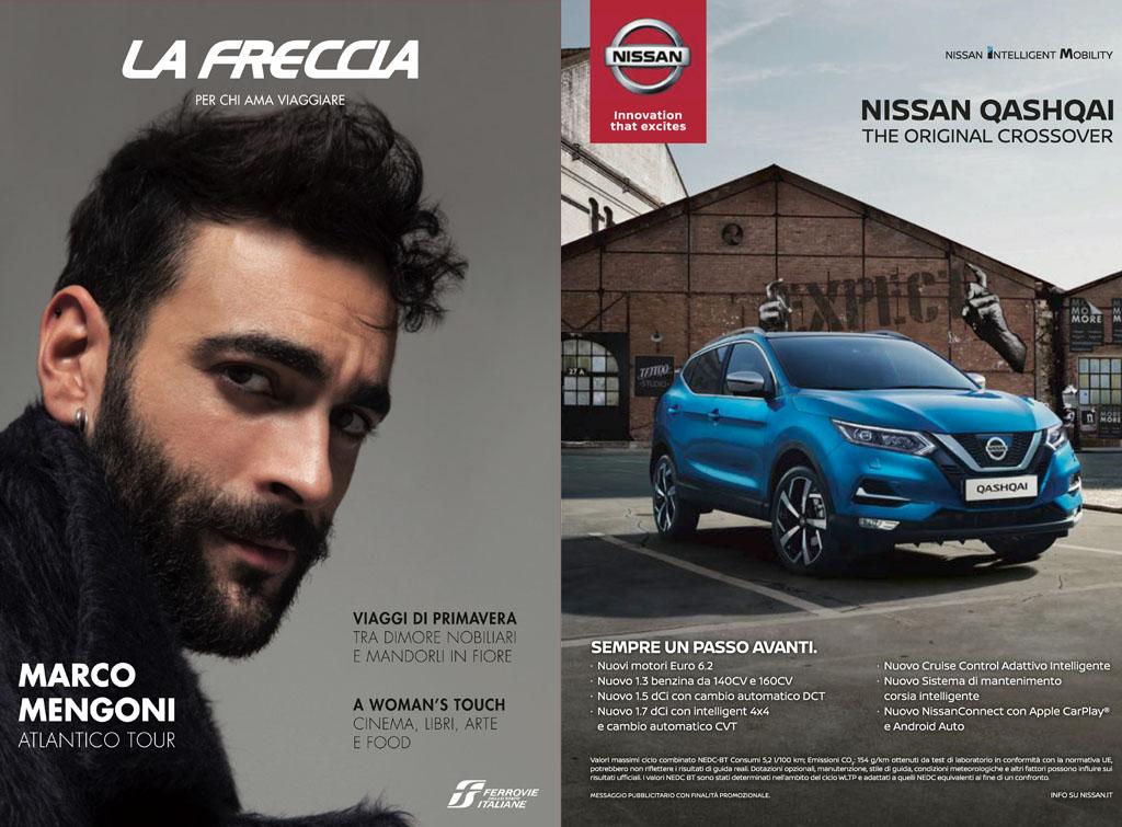 Europemedia pubblicità rivista la Freccia per Nissan Italia