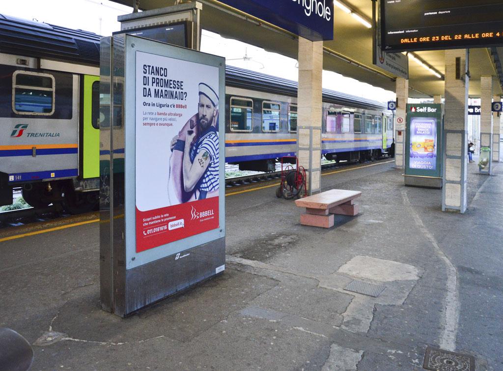 Europemedia impianti pubblicitari nelle grandi stazioni Genova