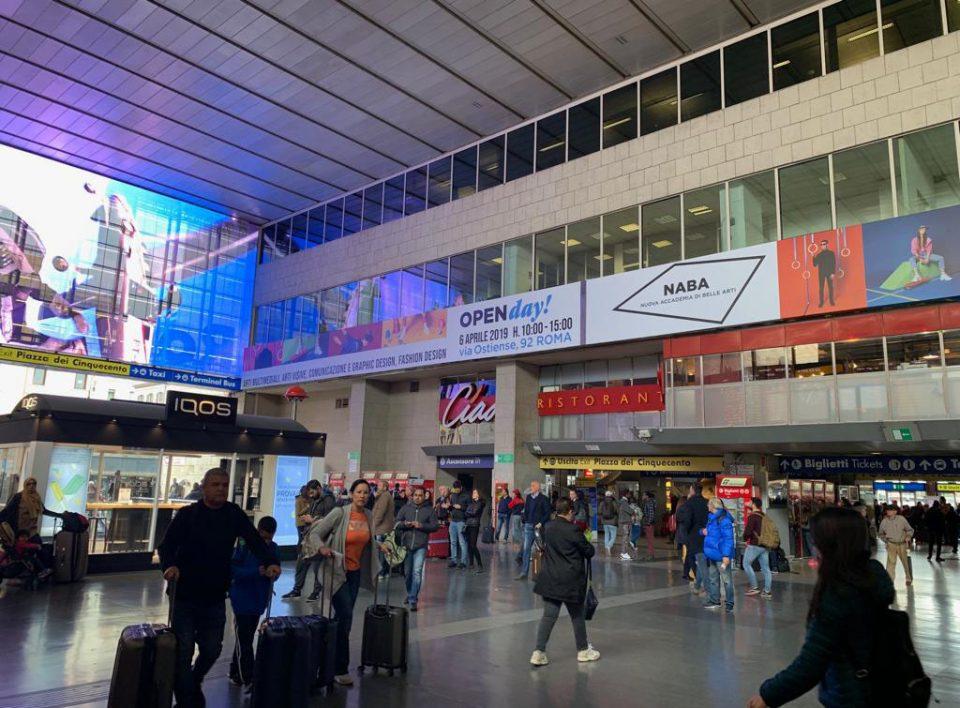 Europemedia impianti pubblicitari grandi stazioni Roma Termini e Tiburtina
