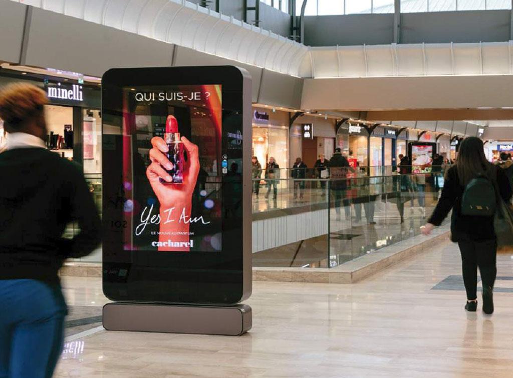 Europe Media impianti pubblicitari a Parigi, centri commerciali e shopping mall