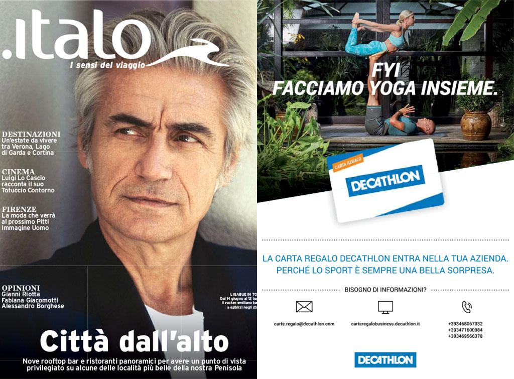 EuropeMedia Campagna Pubblicitaria per Decathlon Italia Rivista Italo