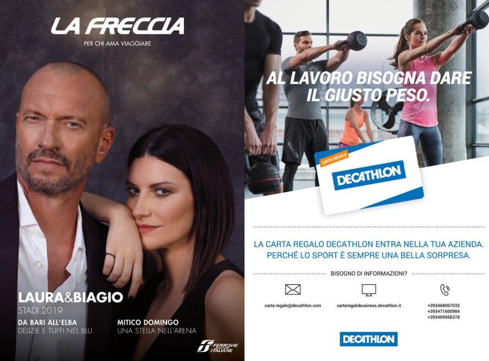 Europe Media pubblicità sulla rivista di bordo treno La Freccia