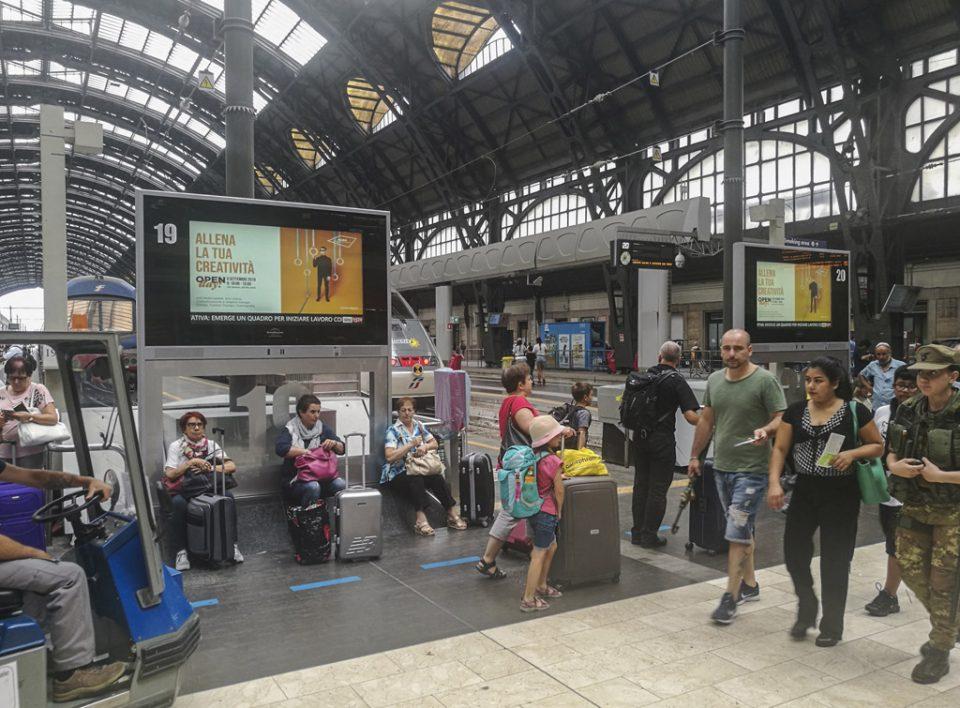 Europe Media pubblicità e impianti pubblicitari nelle grandi stazioni ferroviarie