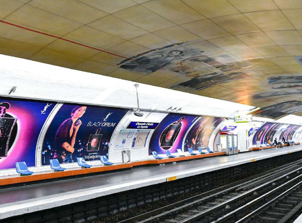 Europe Media Impianti Pubblicitari digital network Metro Parigi