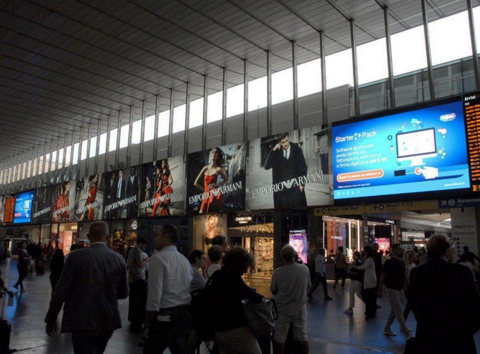 Europe Media Impianti Pubblicitari e Pubblicità all'interno delle Grandi Stazioni Ferroviarie Roma Termini
