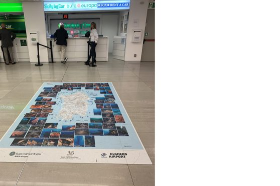Europe Media impianti pubblicitari floor graphic aeroporti