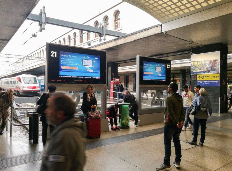 Europe Media Pubblicità e Impianti Pubblicitari nelle Grandi Stazioni Roma Termini GoTV