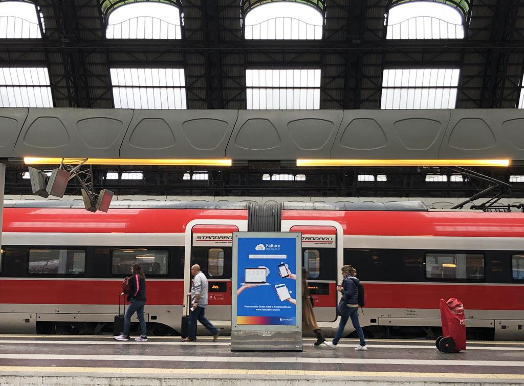 Europe Media impianti pubblicitari nel Circuito Grandi Stazioni Ferroviarie