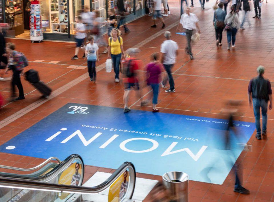 Impianti Pubblicitari in Germania Stazioni Ferroviarie Floor Graphic