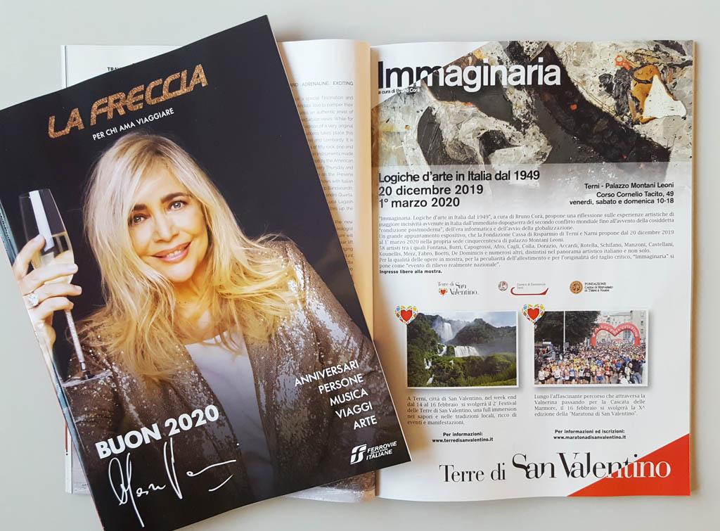 europe media pubblicità sul magazine di bordo treno la freccia