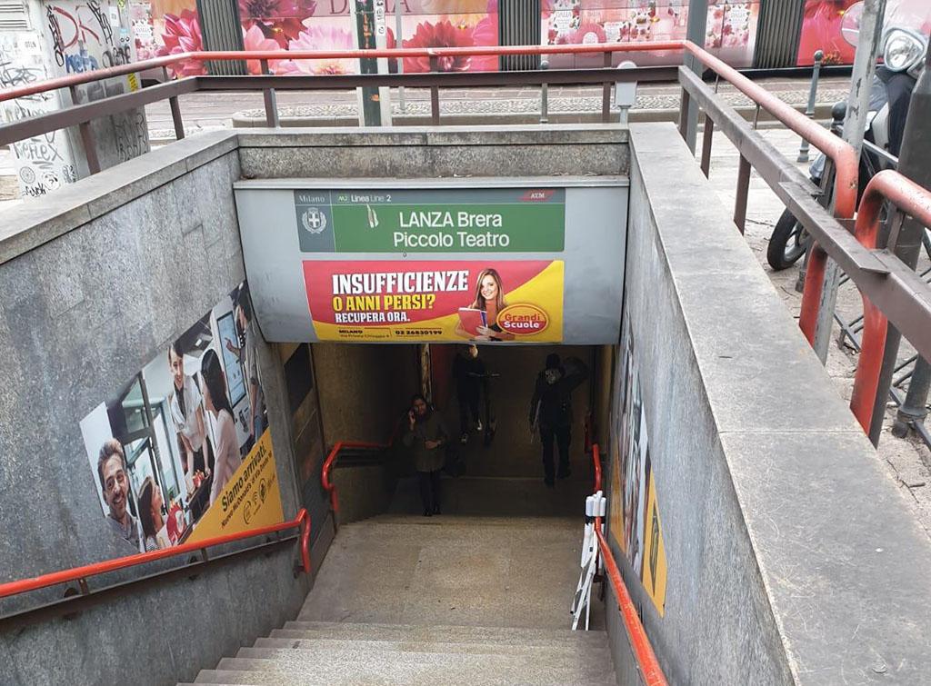 Europe Media Impianti Pubblicitari accessi Metro Milano