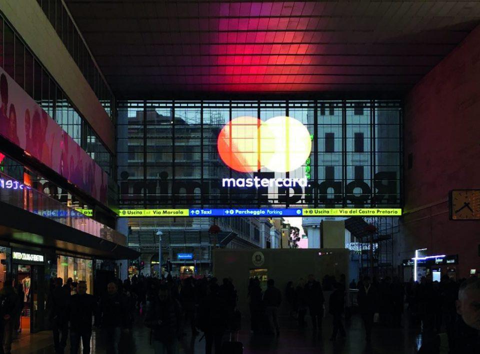 Europe Media impianti Pubblicitari Maxi Led Trasparenti Roma Termini