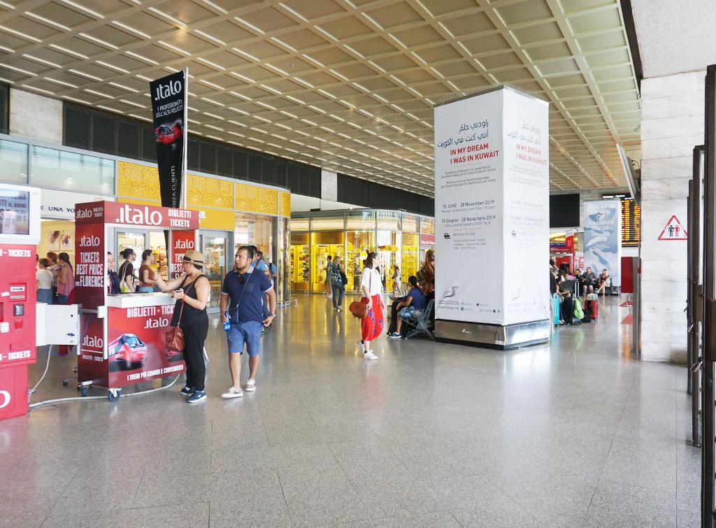Europe Media impianti pubblicitari totem nelle grandi stazioni