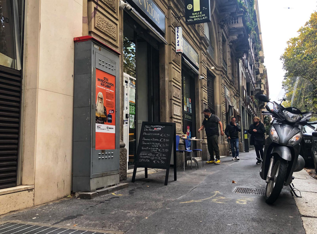 Europe Media Impianti PUbblicitari Urban Box Milano