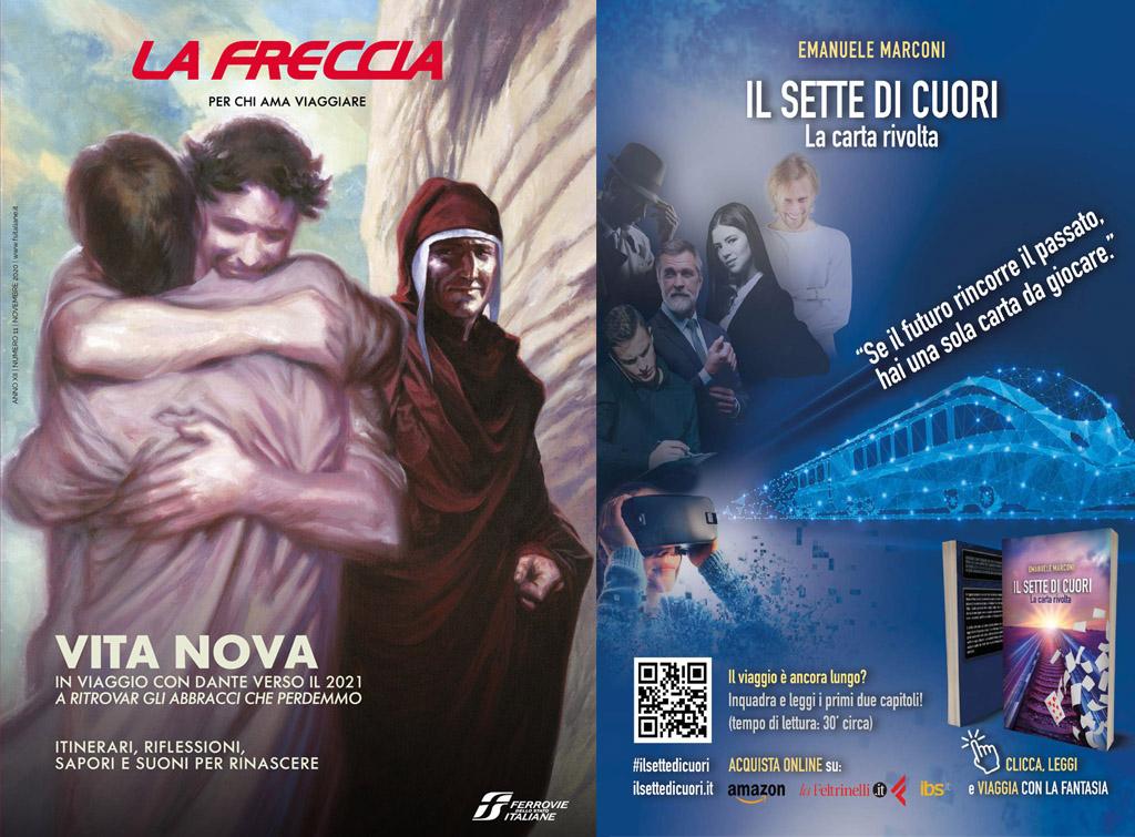 europemedia pubblicità sul magazine di bordo treno la freccia novembre 2020 per Pubblicinemà
