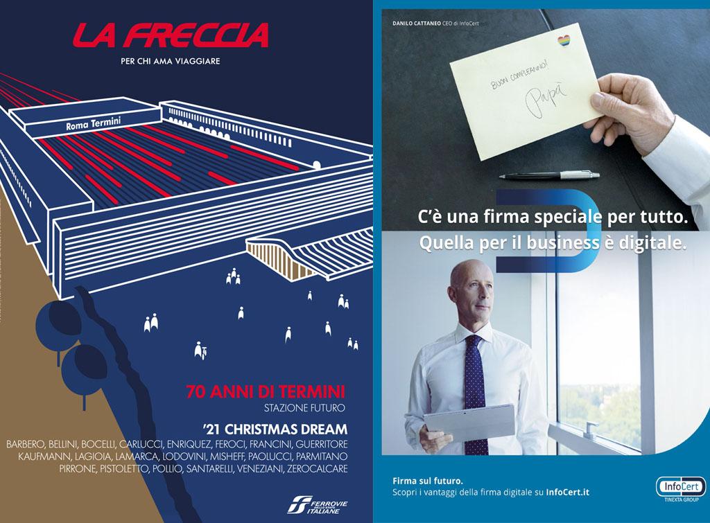 Europe Media pubblicità la Freccia dicembre 2020 per Infocert