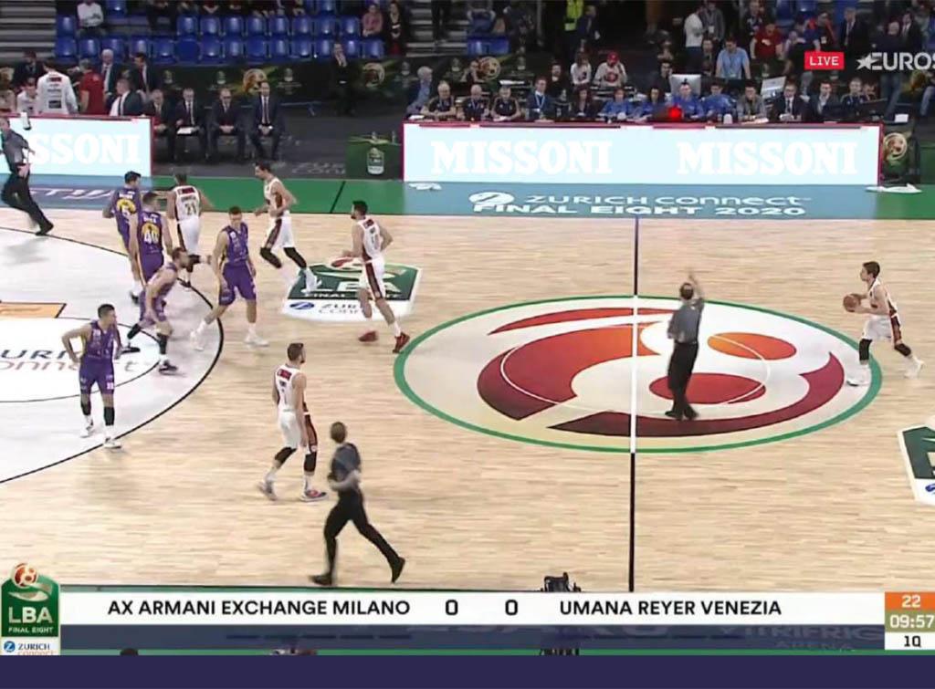 Europe Media Pubblicità nei palazzetti Lega Basket Serie A