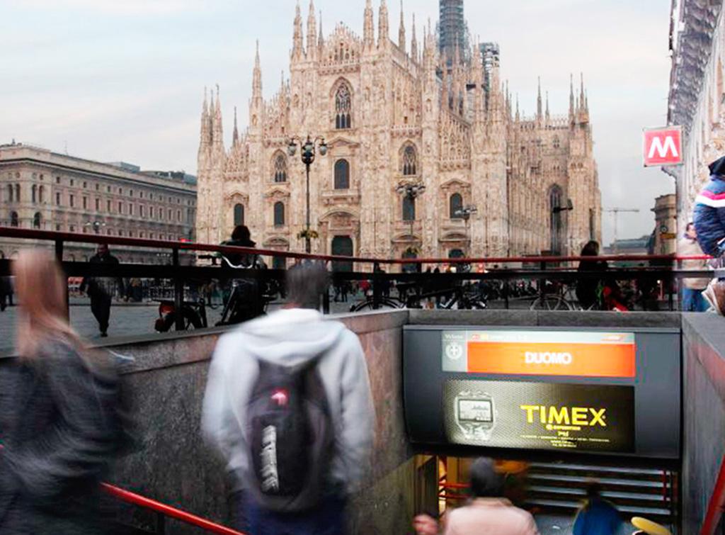 Europe Media impianti pubblicitari Metro Milano