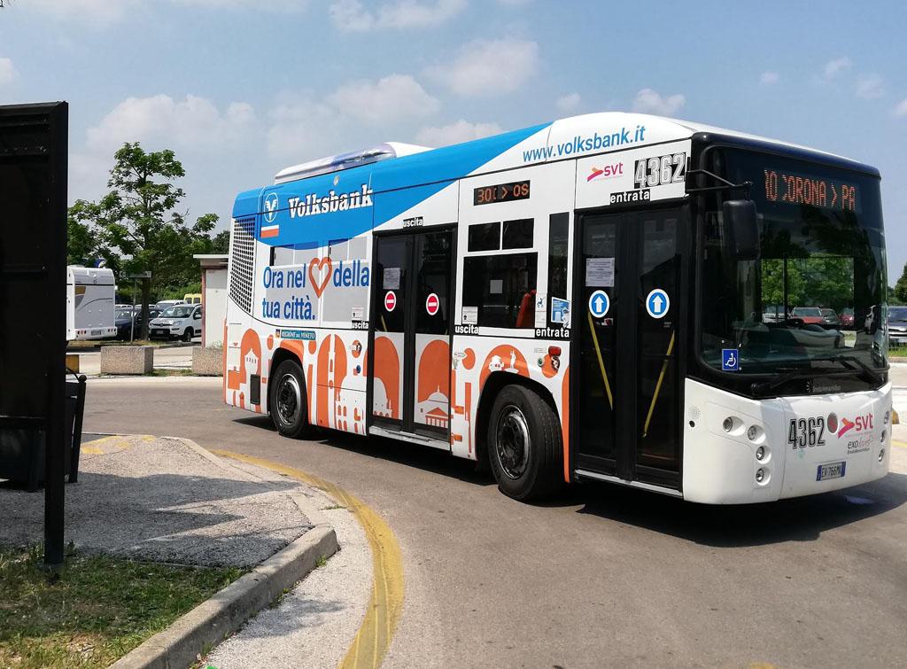 Europe Media pubblicità dinamica brandizzazione bus