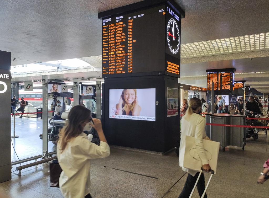 Europe Media impianti pubblicitari GOTV Stazione Roma Termini